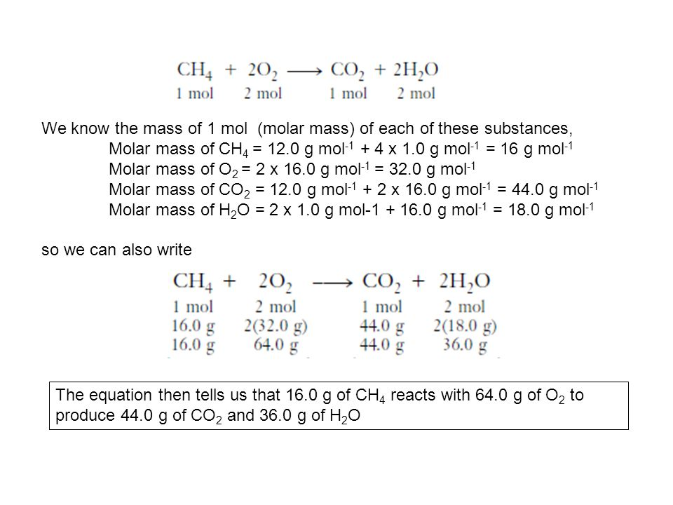 We know the mass of 1 mol (molar mass) of each of these substances,