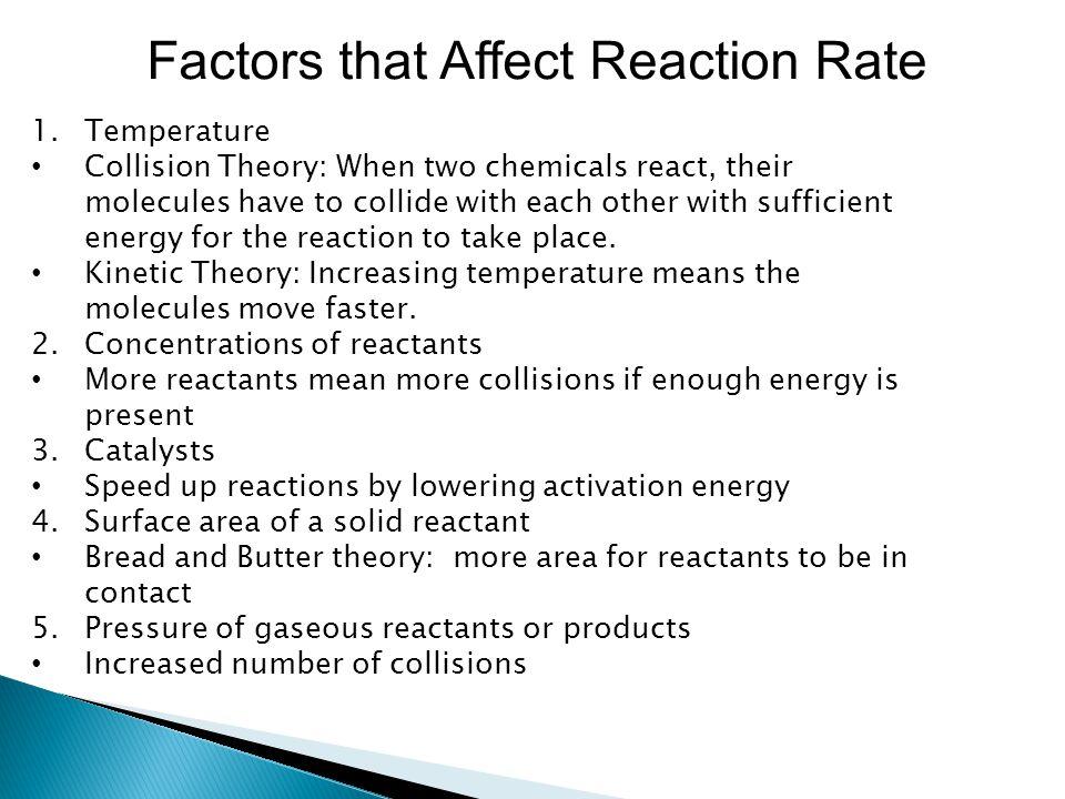Factors that Affect Reaction Rate