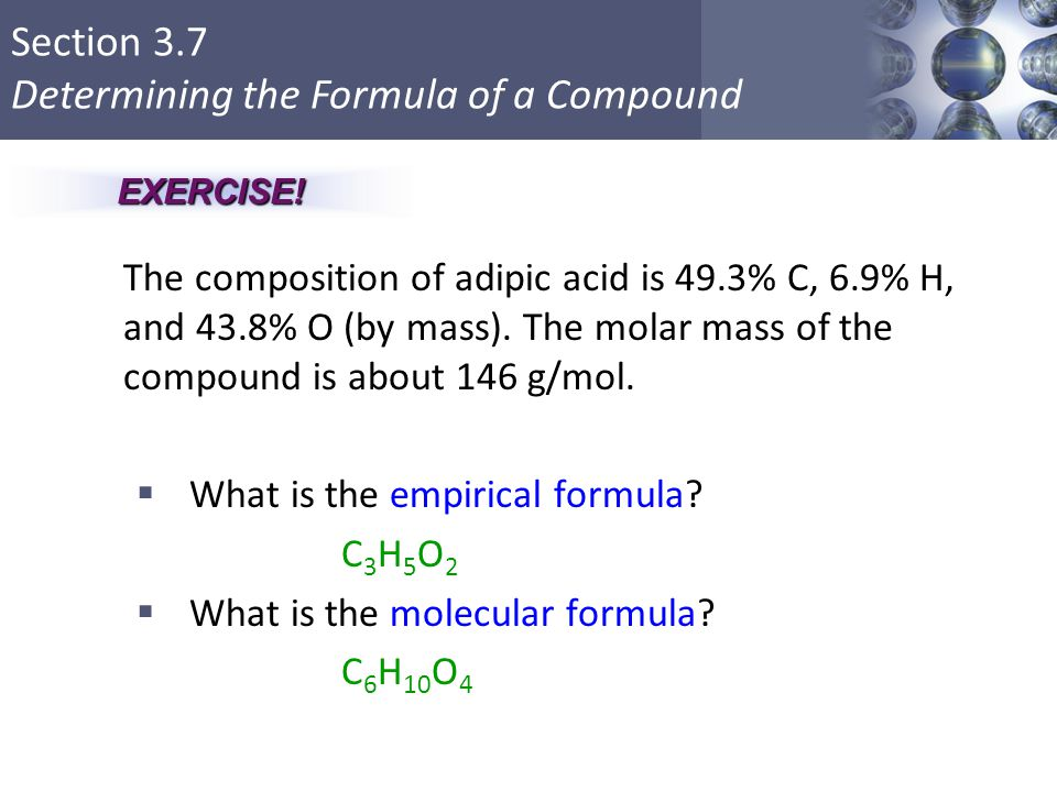 What is the empirical formula C3H5O2 What is the molecular formula