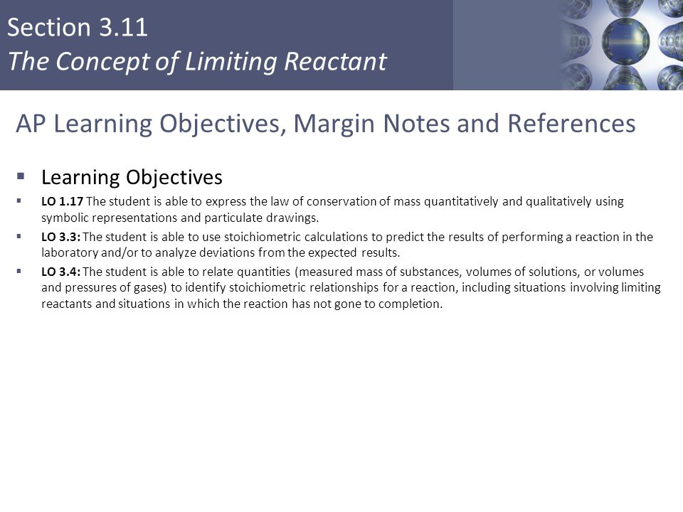 AP Learning Objectives, Margin Notes and References