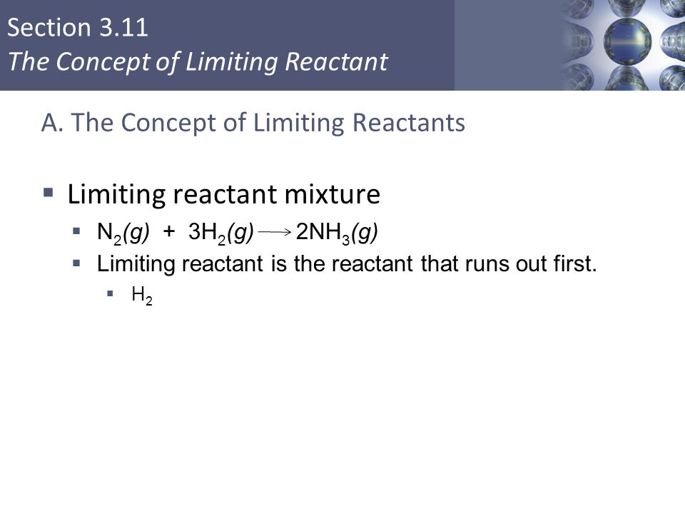 A. The Concept of Limiting Reactants