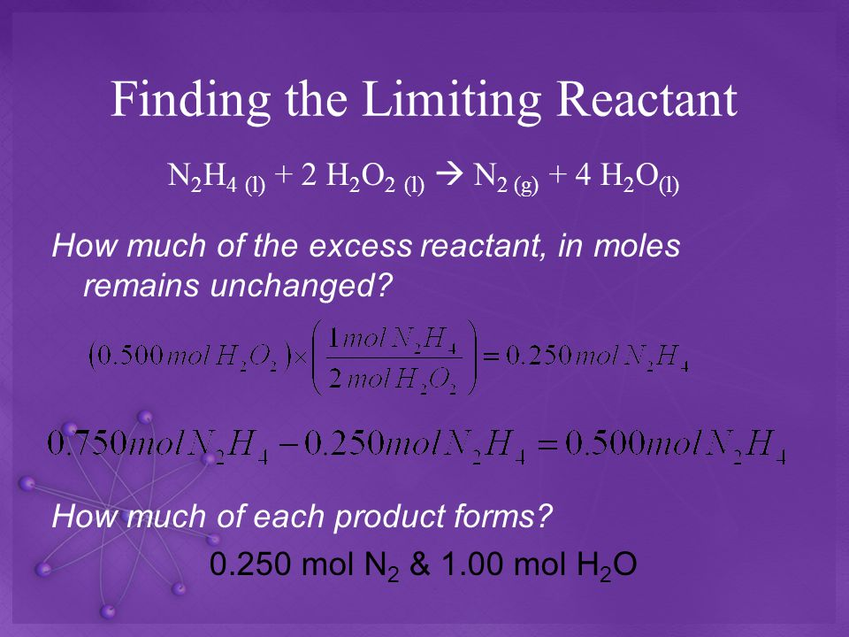 Finding the Limiting Reactant