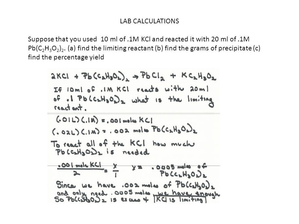 LAB CALCULATIONS