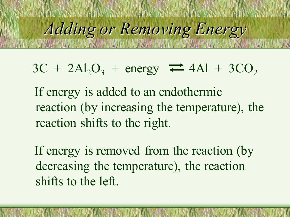 Adding or Removing Energy
