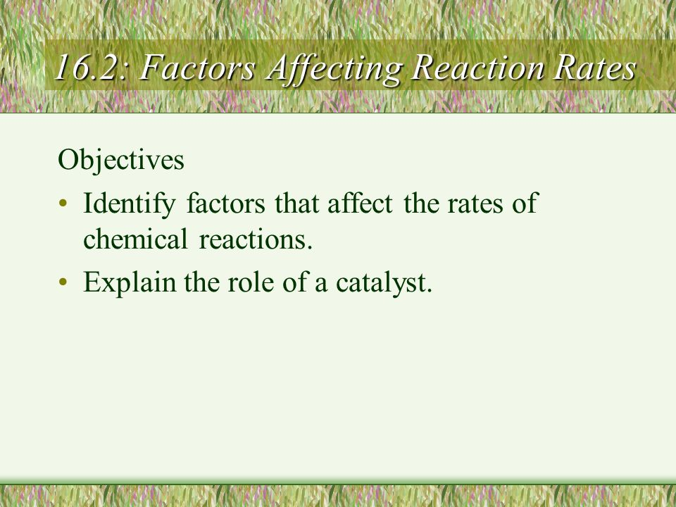 16.2: Factors Affecting Reaction Rates