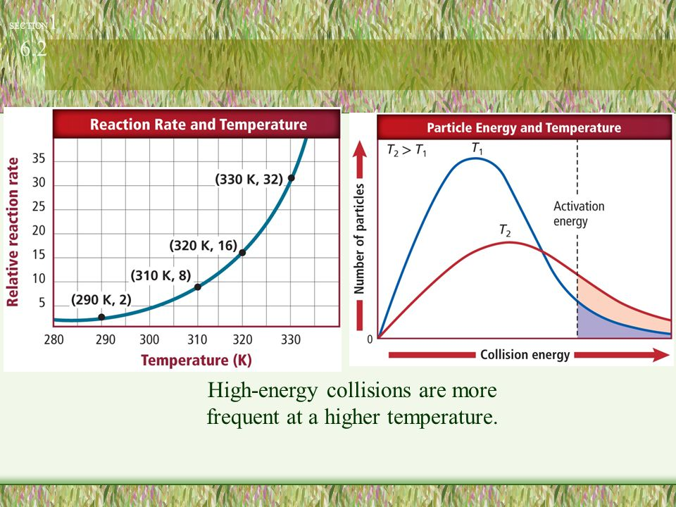 High-energy collisions are more frequent at a higher temperature.