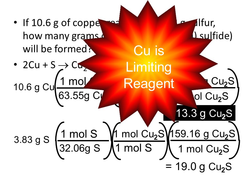 If 10. 6 g of copper reacts with 3
