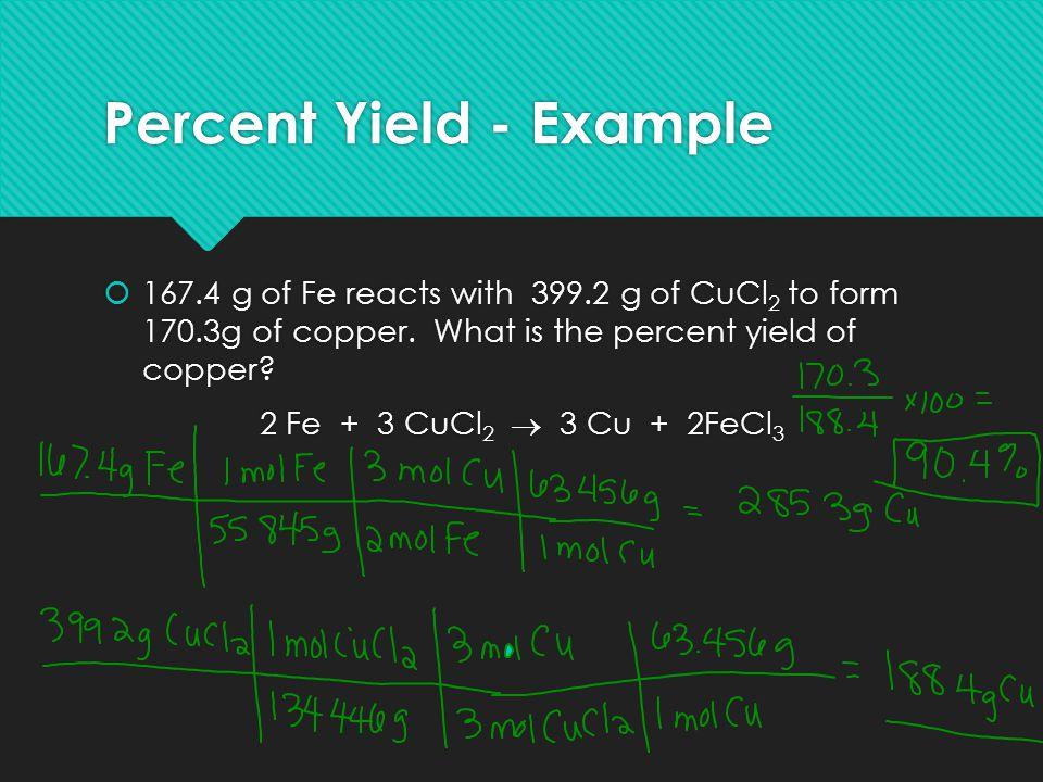 Percent Yield - Example