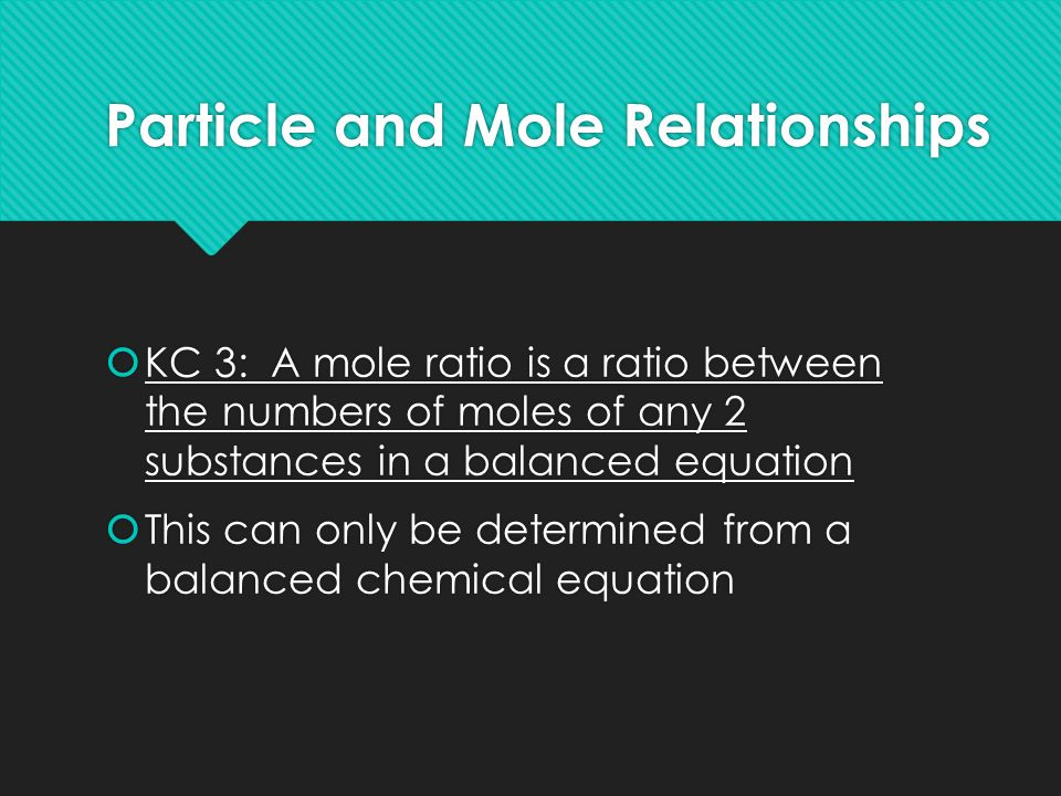 Particle and Mole Relationships
