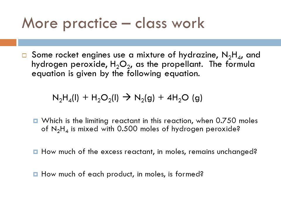 More practice – class work
