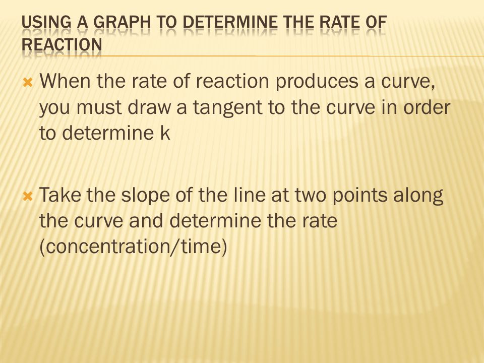 Using a graph to determine the rate of reaction