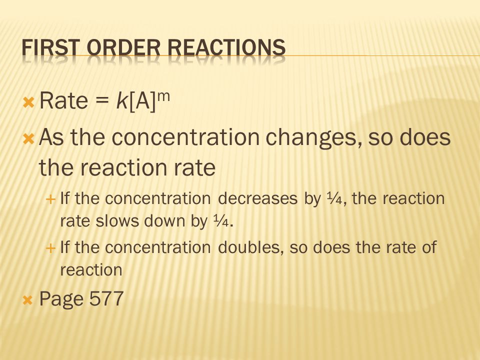 As the concentration changes, so does the reaction rate