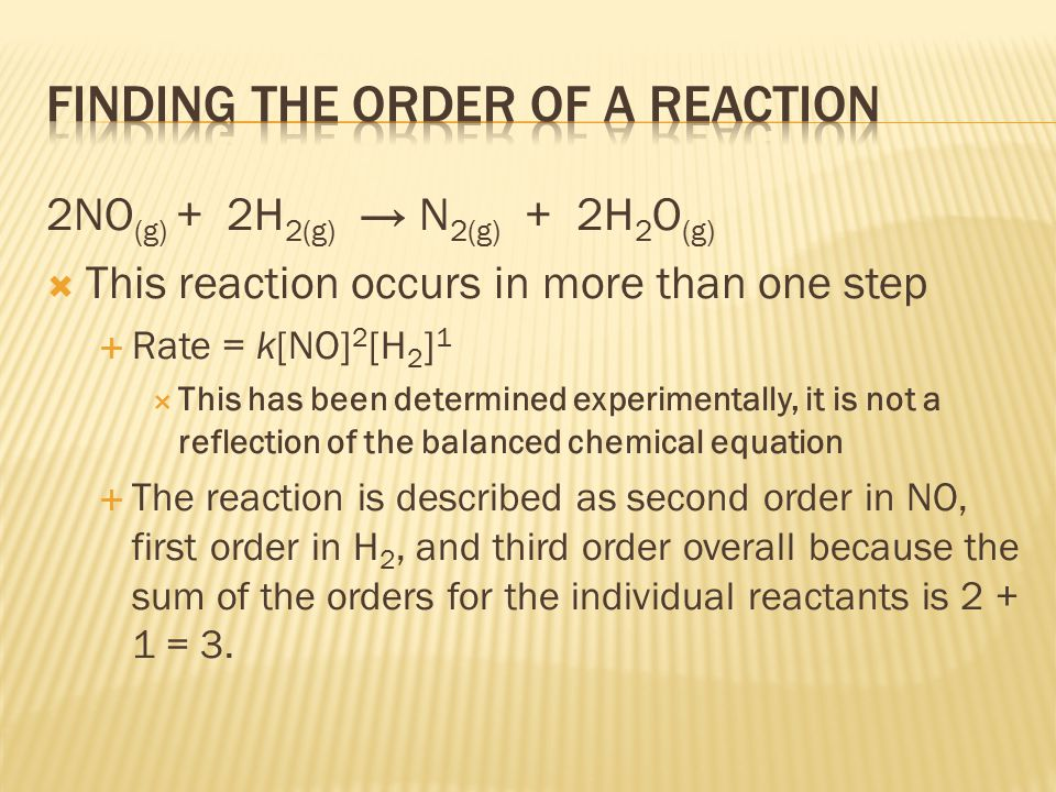 Finding the order of a reaction