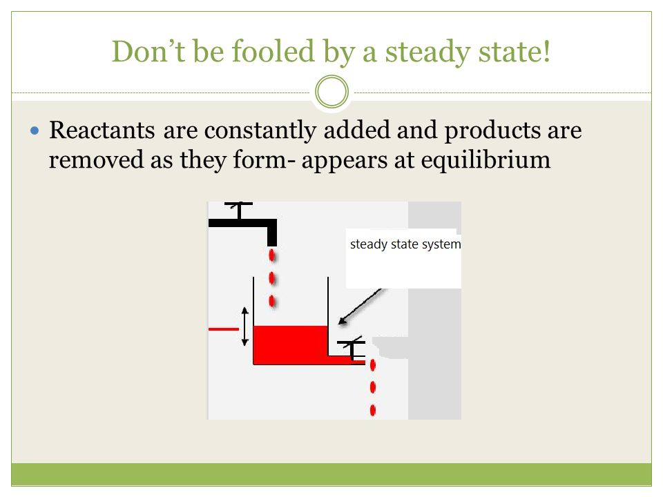 Don't be fooled by a steady state!