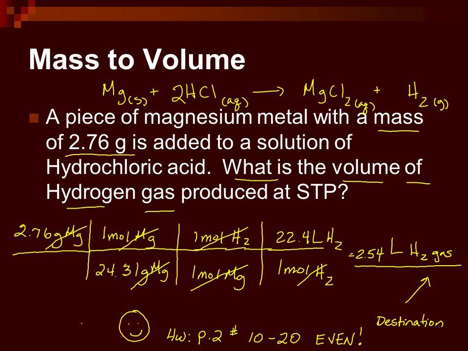 Mass to Volume