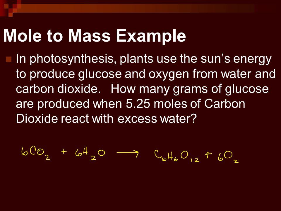 Mole to Mass Example