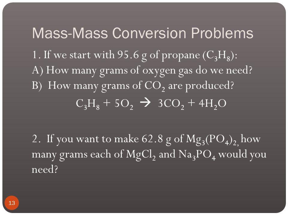 Mass-Mass Conversion Problems