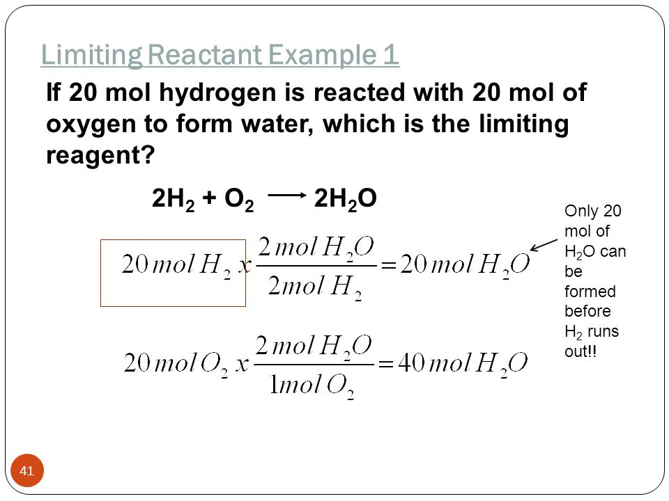 Limiting Reactant Example 1