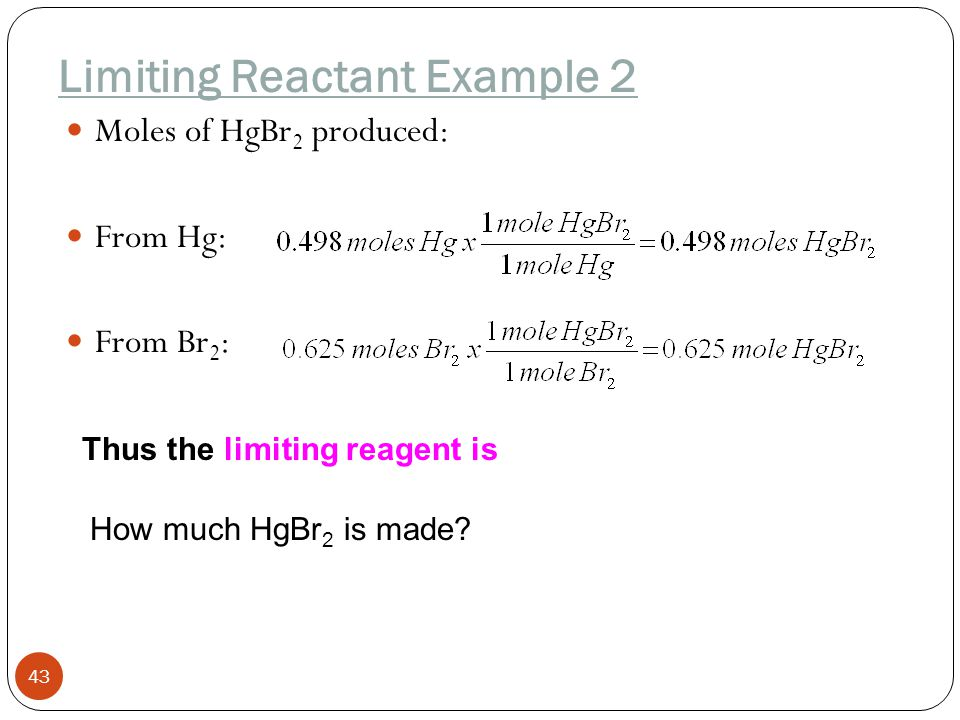 Limiting Reactant Example 2