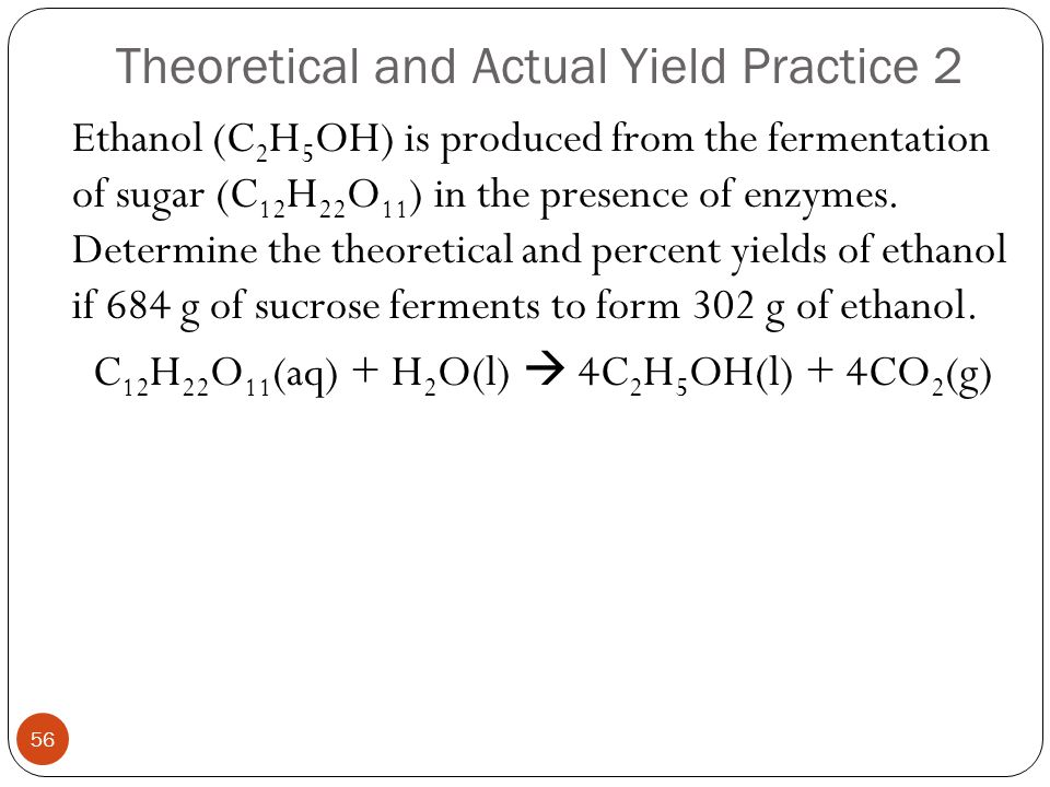 Theoretical and Actual Yield Practice 2