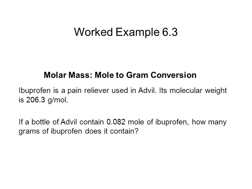 Molar Mass: Mole to Gram Conversion