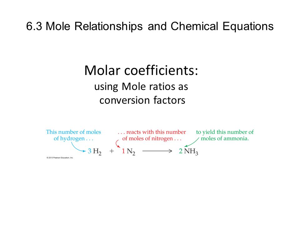 6.3 Mole Relationships and Chemical Equations