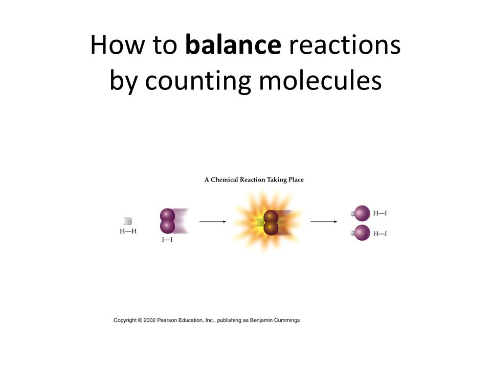How to balance reactions by counting molecules