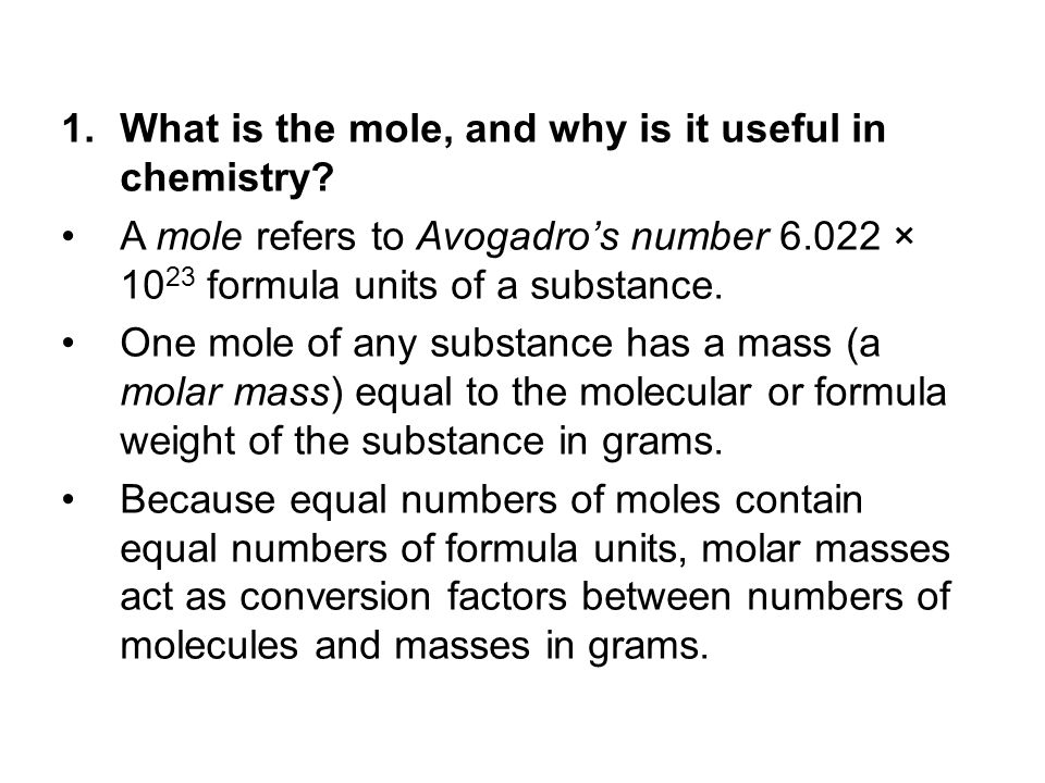 What is the mole, and why is it useful in chemistry