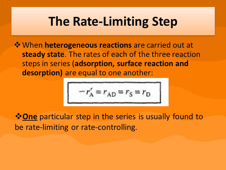 The Rate-Limiting Step