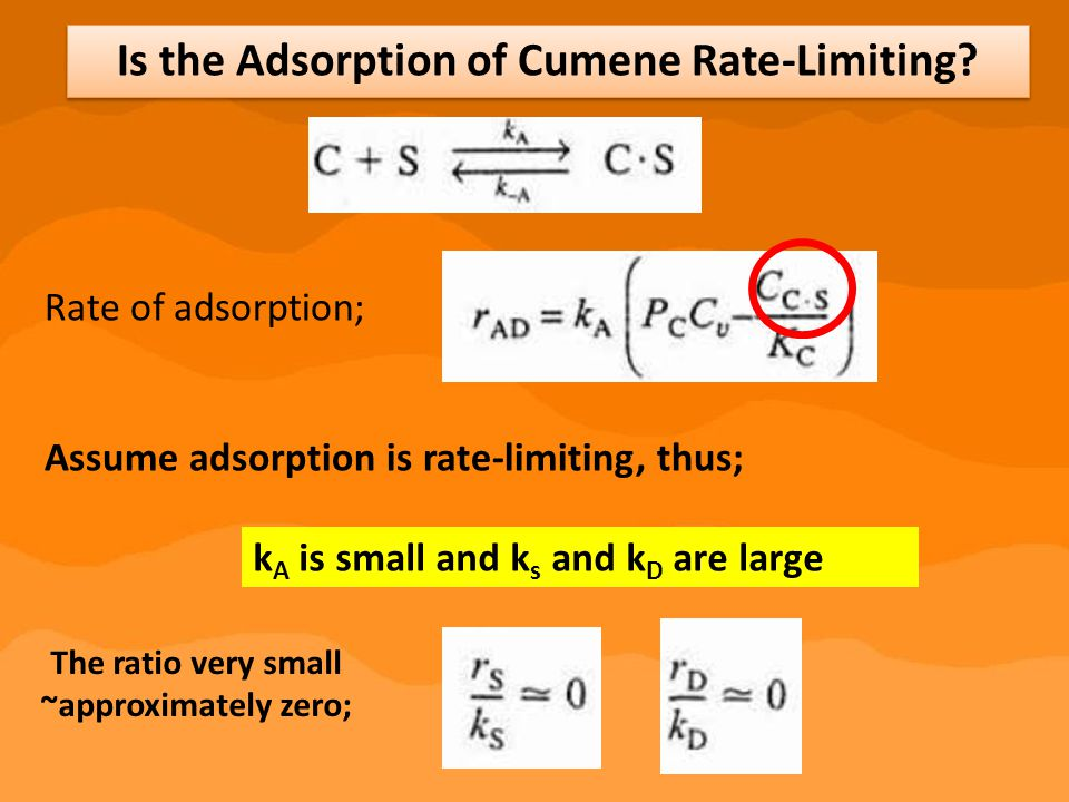 Is the Adsorption of Cumene Rate-Limiting