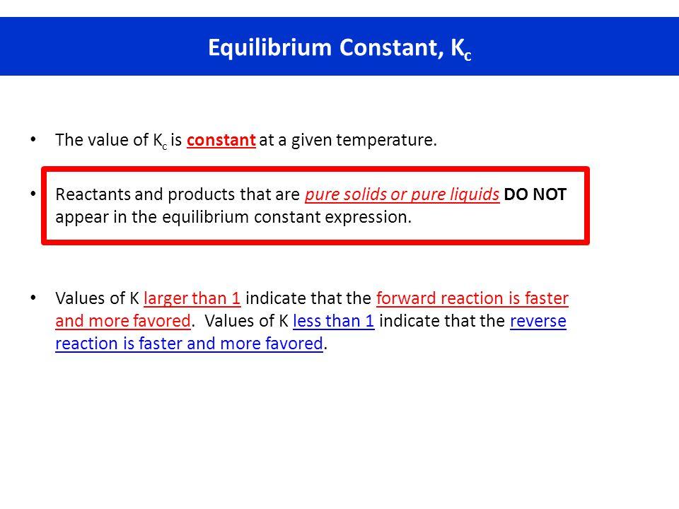 Equilibrium Constant, Kc