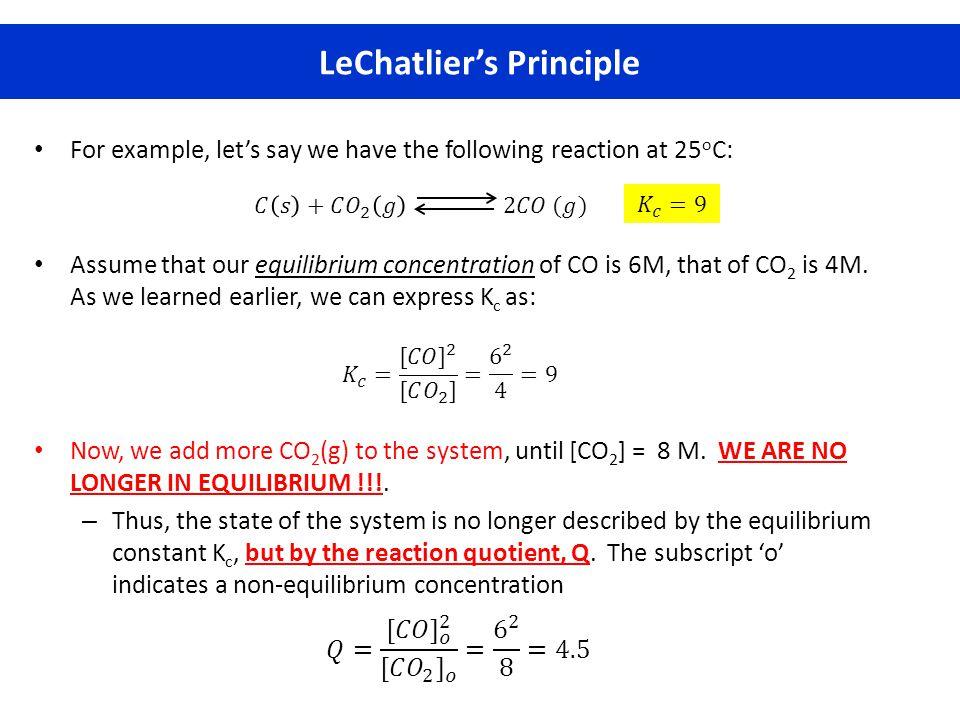 LeChatlier's Principle