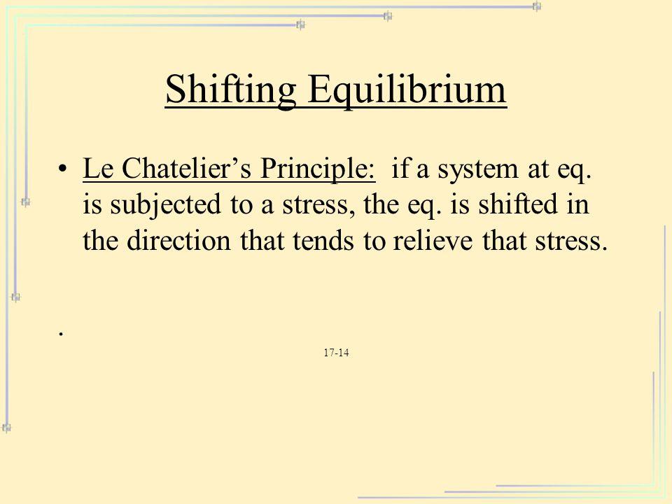 Shifting Equilibrium
