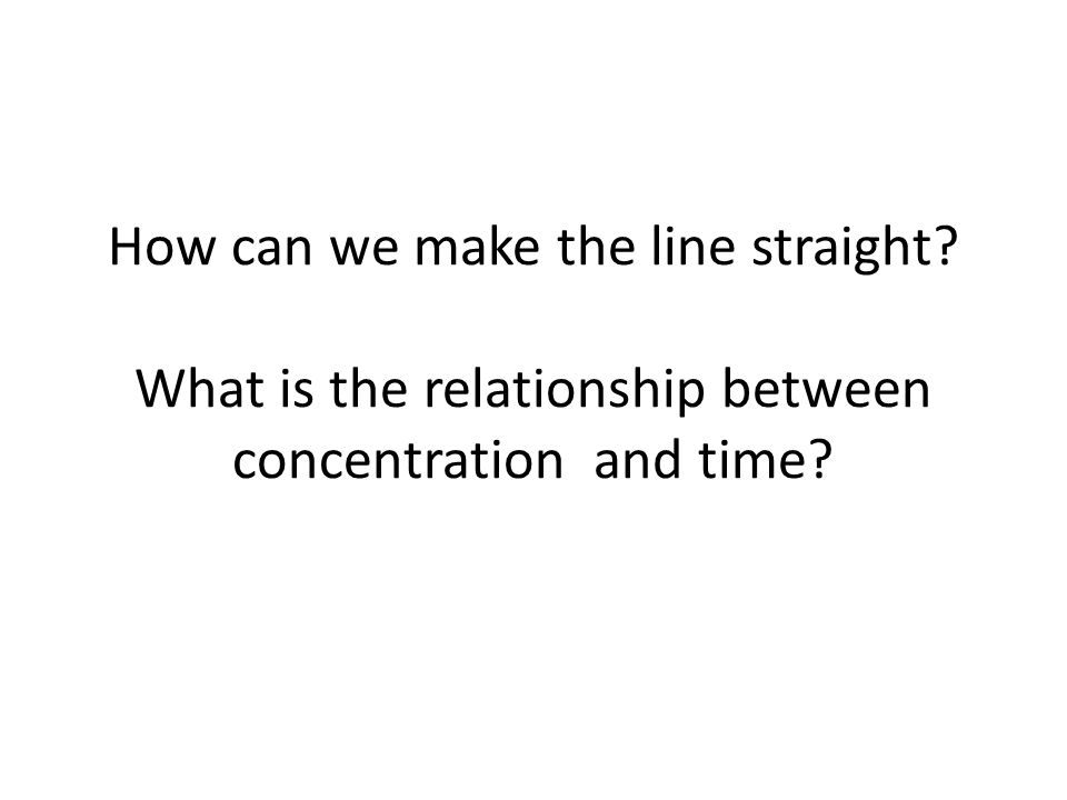 How can we make the line straight