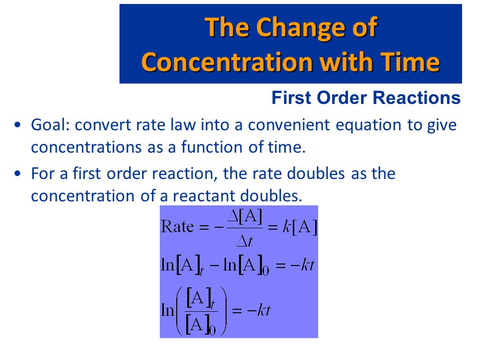 The Change of Concentration with Time