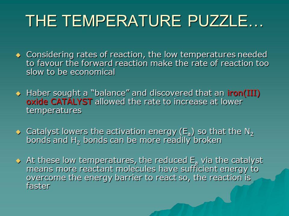 THE TEMPERATURE PUZZLE…