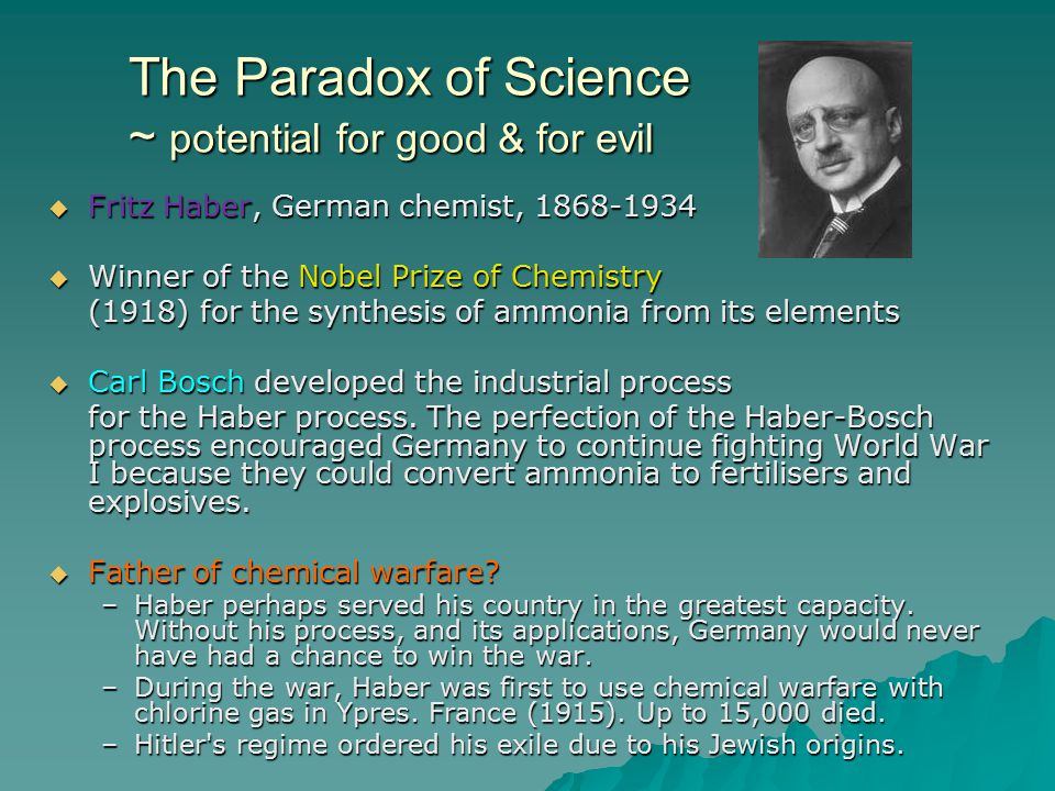 The Paradox of Science ~ potential for good & for evil