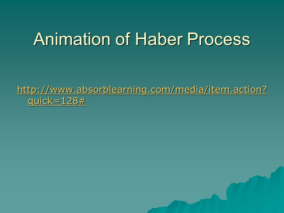 Animation of Haber Process