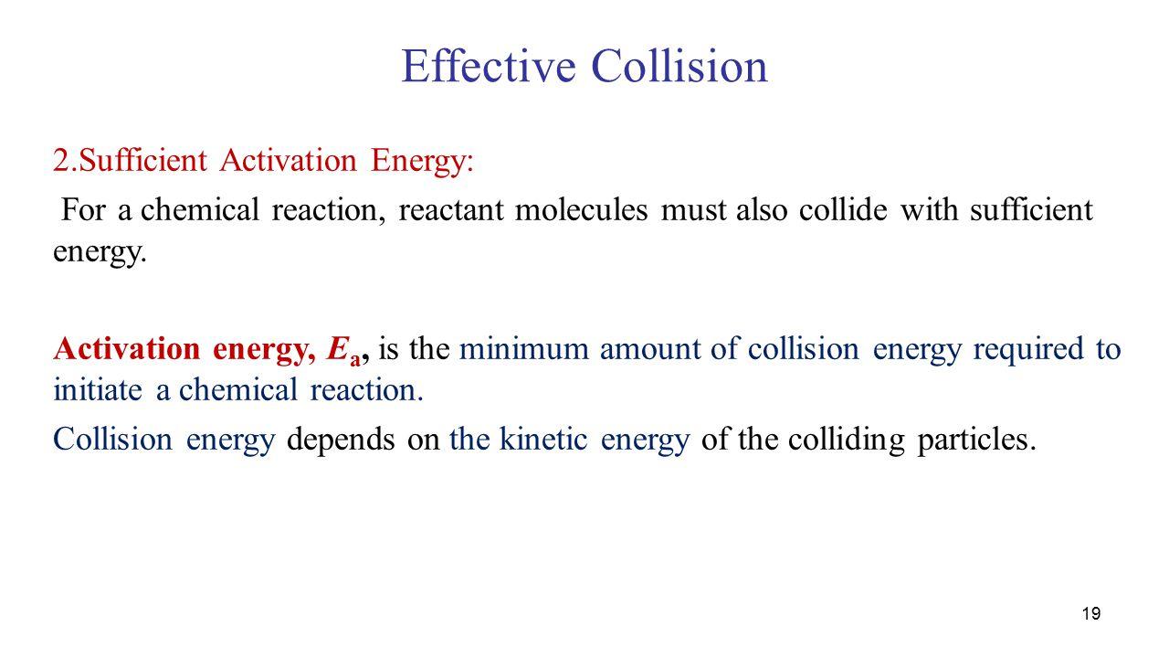 Effective Collision 2.Sufficient Activation Energy: