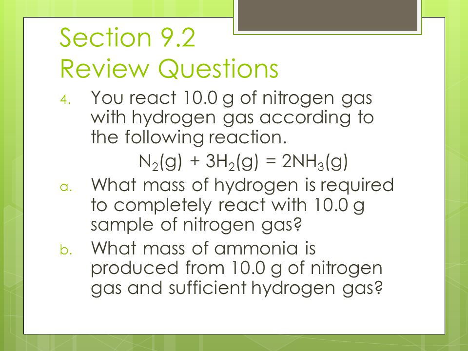 Section 9.2 Review Questions