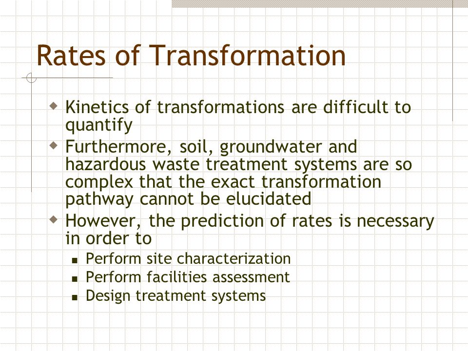 Rates of Transformation