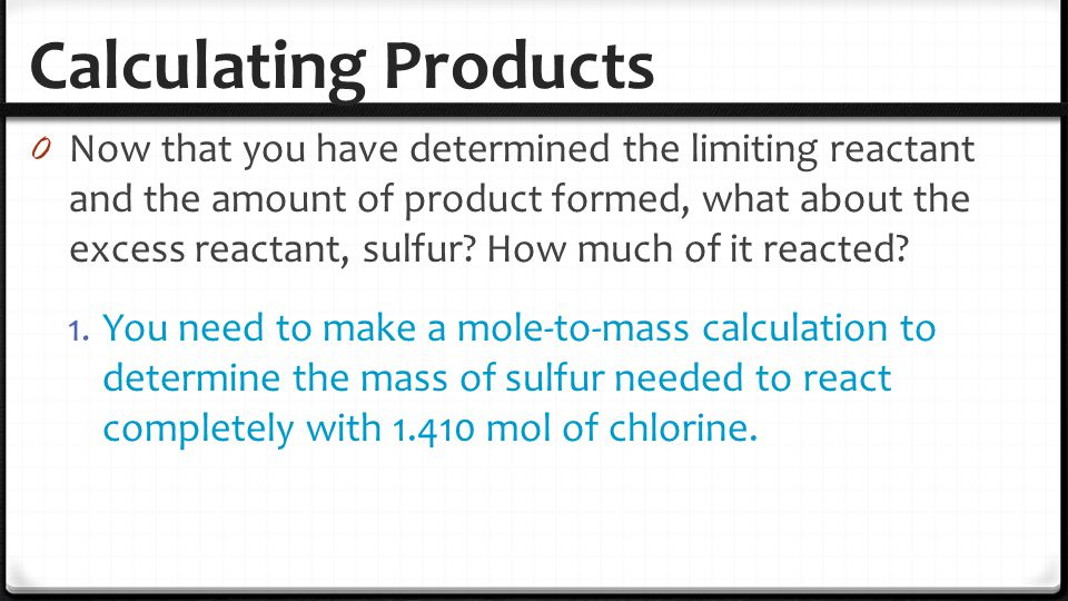 Calculating Products