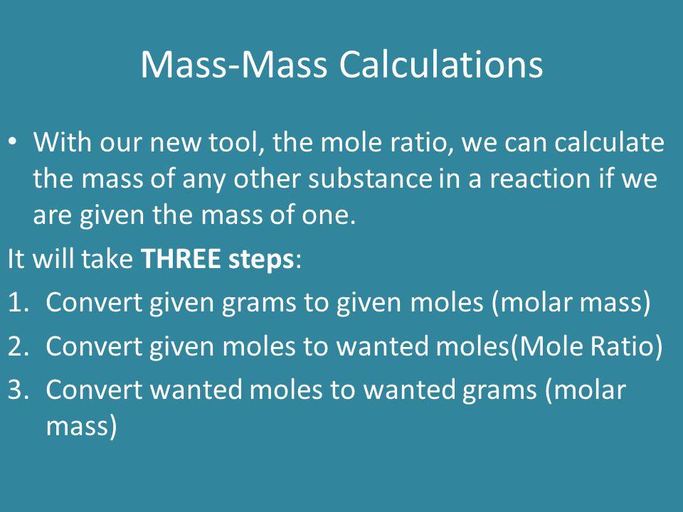 Mass-Mass Calculations