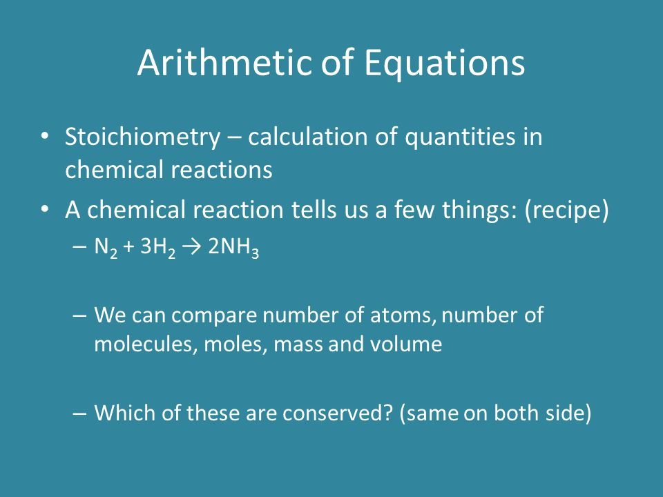 Arithmetic of Equations