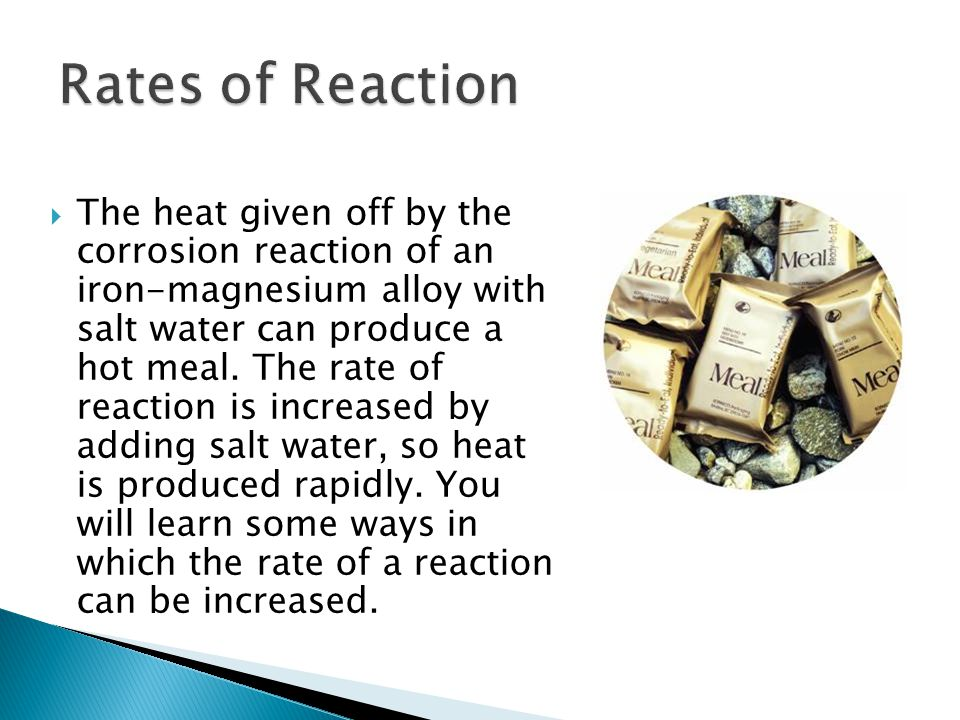 18.1 Rates of Reaction.