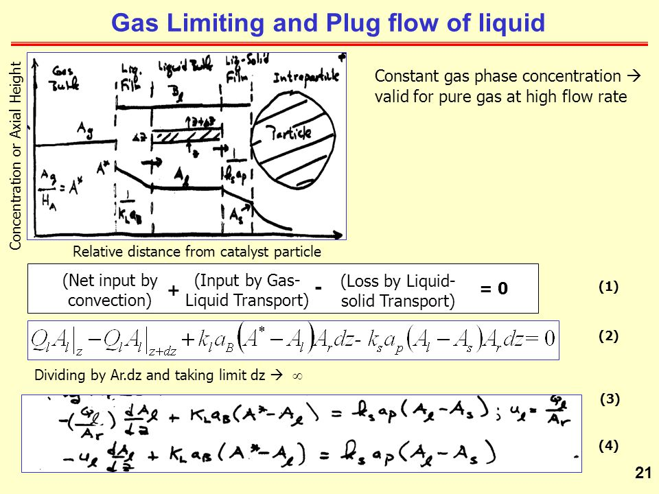 Gas Limiting and Plug flow of liquid
