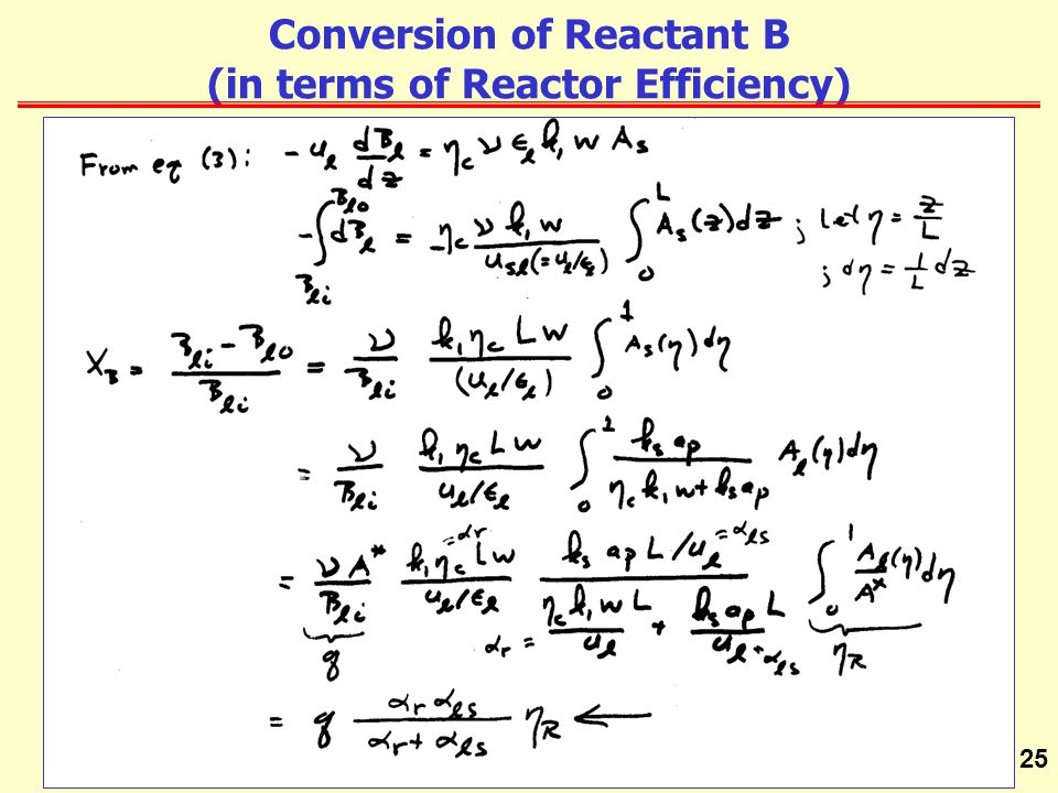 Conversion of Reactant B (in terms of Reactor Efficiency)