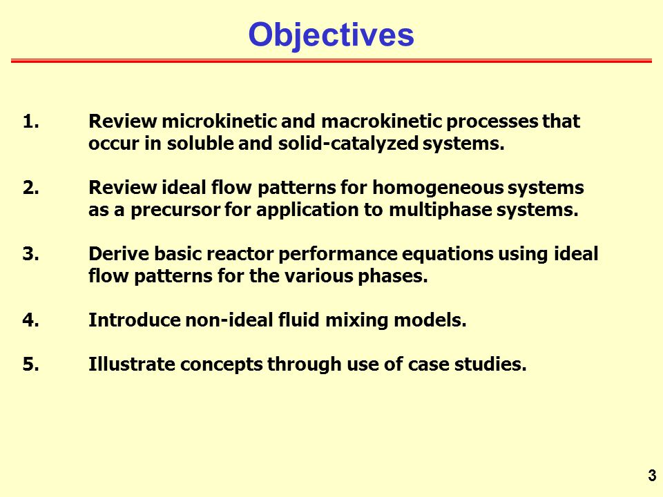 Objectives 1. Review microkinetic and macrokinetic processes that