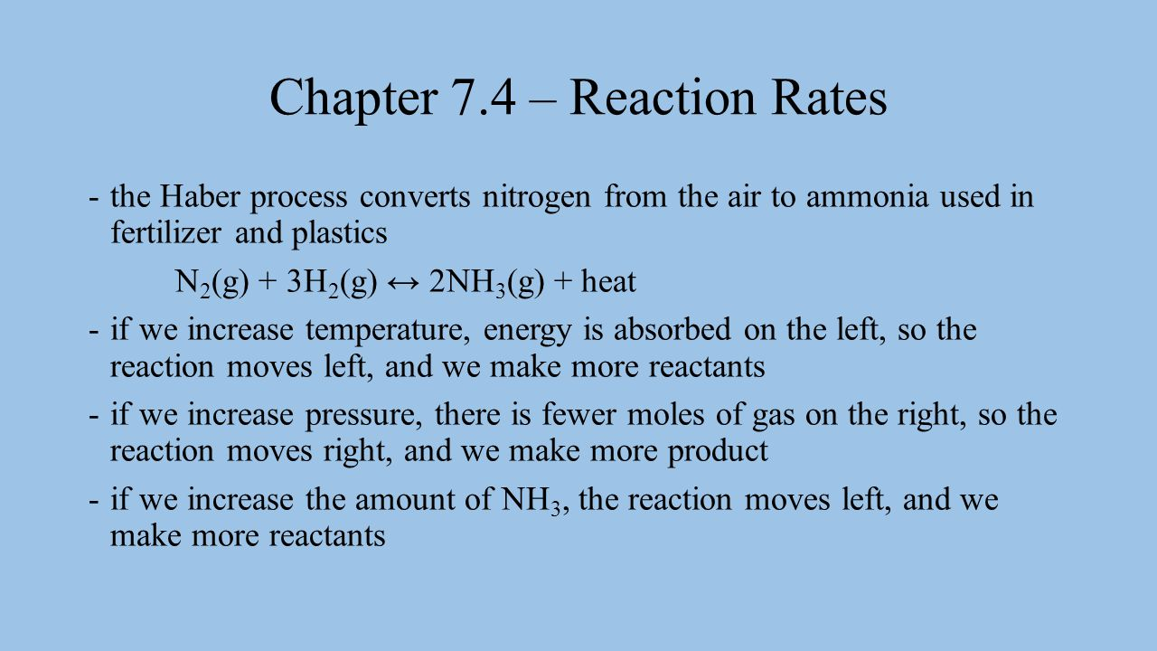 Chapter 7.4 – Reaction Rates