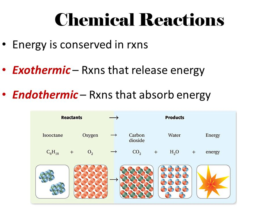 Chemical Reactions Energy is conserved in rxns